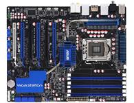 华硕P6T6 WS Revolution 真 @16 PCI-E Gen2 3路SLI带来更快、更稳定的图形性能,无论忙碌的机械/建筑/室内
