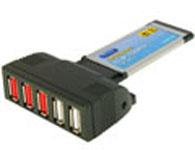 西霸 SD-XU20-NS1-0005E Express笔记本USB 2.0扩展卡(5口)