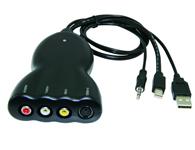 朗强 LKV386 Mini DisplayPort转AV S端子视频转换器