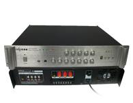 智乐普QG-6300AT  二路话筒输入,三路输出,优先话筒有自动默音功能,便于紧急广播,叮咚提示音,高低音调整 自带5个独立分区音量控制器,故障声光指示过流,短路,零点飘移,延时功能,带U盘MP3播放器