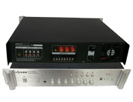 智乐普USB-MP80  二路话筒输入,三路输出,优先话筒有自动默音功能,便于紧急广播,叮咚提示音,高低音调整,故障声光指示过流,短路,零点飘移,延时功能,带U盘MP3播放器