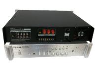 智乐普USB-MP400 二路话筒输入,三路输出,优先话筒有自动默音功能,便于紧急广播,叮咚提示音,高低音调整,故障声光指示过流,短路,零点飘移,延时功能,带U盘MP3播放器