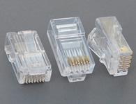 高檔超五類六類水晶頭 (針片磷銅鍍金,厚度達到0.4mm,接觸性能更加精密,保證信號更加穩定的傳輸)