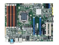 研华 ASMB-820I LGA 1356 Intel Xeon E5 ATX 服务器板卡,支持 DDR3, 1 PCIe x16 和 1 PCIe x8