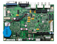 EBC 310 支持 Intel® Atom™ E600 系列超低功耗 SoC 板载 DDR2 1GB 主板 支持 VGA/ LVDS 图像显示 支持 Video Decode (MPEG2, MPEG4, H.264, VC1, WMV9)/ Encode (MPEG4, H.264) 两个千兆以太网 一个 CAN 控制器 3x COMs, 6x USB 2.