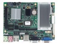 EBC 340 支持Intel® Atom™ N270 1.6GHz处理器,533 MHz FSB Intel® 945GSE 集成 3D 图形引擎GMA950 芯片组,CRT 和 LVDS 显示 1 x 200-pin SO-DIMM 插槽,最大支持2 GB 单路non-ECC 400/533 MHz DDR2 内存 Realtek RTL8111C-GR