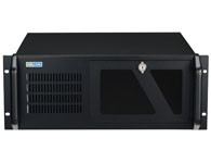 "PBOX 520A 19""机架式工业电脑机箱,ATX/ Micro-ATX工业母板 硬盘抗震设计,支持3个5.25""和1个3.5""硬盘托架 可调节压具高度,以提供附加卡抗震、抗冲击保护 电源和硬盘指示灯提高了系统可用性 前置空气过滤器,提供防尘保护 可上锁前门,防止未授权访问 前端双散热风扇,以及后窗口额外的双散热风扇 标准的ATX 400W, 主动PFC F3, 全范围+100~"