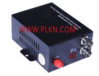 1路视频光端机1、插卡式或独立结构,适用集中管理2U机架 2、10位数字编码及无压缩式视频传输 3、支持任何高分辩率视频信号 4、5Hz-10MHz 视频通道 5、自动兼容PAL 、NTSC 、SECAM 视频制式 6、带APC 电路,输出光功率恒定,动态范围大 7、千兆光纤传输,大容量,易升级 8、电源和其它参数状态指示,可监视系统的运行状况 9、支持视频无损再生中继 10、先进自适应技术,使用时无需进行现场的电气或光学调节 11、工业级设计,模块化设计使设备可靠灵活 12、可自动恢复电源熔断丝 13、全内置电源、机壳设计外观独特 14、内部电源功耗:2.6 w(Input:AC140 ~ 260V)