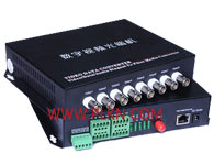 8路多功能光端机1、正向、反向、双向视频监控系统的传输; 2、可视对讲系统等; 3、传输云台及球机控制信号、多路报警信号等; 4、对讲系统、正向广播系统、哨位反向报警广播系统; 5、传输以太网信号,方便执勤地点的以太网服务; 6、红外报警信号传输; 7、四色声光报警系统的传输; 8、子弹箱报警及开锁信号的传输; 9、内部小号电话、外部长途业务 10、门禁系统、考勤系统的传输