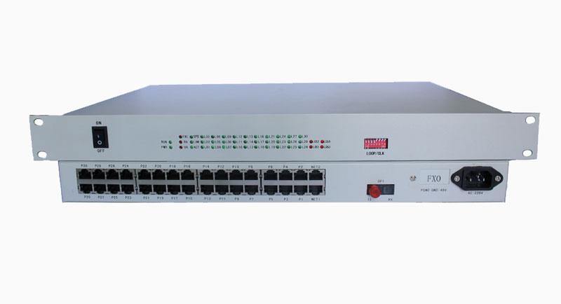 16路电话光端机1、提供1~N路电话接口(或其他用户接口)。 2、提供X路以太网接口(可选)。 3、提供X路RS232接口(可选)。 4、语音接口支持来电显示和提供反极信号。 5、体积小、造型美观,安装操作方便。 6、完善的状态显示功能,便于维护管理。 7、适应多种电源环境-48VDC或220VAC