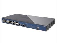 H3C/华三 SOHO-S1526-CN 24口 百兆 管理型交换机24个10/100M全双工线速交换端口,2个SFP插槽(端口限速、端口聚合、端口镜像、256个VLAN(1-4094可配置)、4级端口优先级、Web管理、19英寸标准机架)6.55Mpps/8.8G背板带宽,存储转发模式。