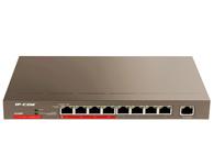 IP-COM G1309P 9口千兆4口大功率PoE非网管型交换机,支持4口AF/AT  PoE供电,铁壳10寸桌面式,可吸附金属表面