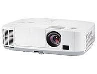 "NEC PE501XC\""投影机类型:液晶投影机 灯泡功率≥270W 灯泡寿命:6000小时(节能模式),3500小时(标准模式) 亮度:5000流明 分辨率:1024×768 对比度:3500:1(动态) 镜头投射比:1.3-2.2 纵向镜头位移范围≥50\\\% 重量≥4kg 整机功率≥350W 内置10W扬声器,支持麦克输入 具备明亮环境下使用的""颜色增强""功能 具备适用于医疗教学的DICOM-SIM图像模式 最低待机功率≤0.4W 具备延长液晶板寿命的功能,例如""突冲风冷系统""     虚拟遥"