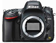 尼康D610 机身画幅:全画幅  分类:高端  像素:2000-2999万  用途:人物摄影,风光摄影,高清拍摄,运动摄影,静物摄影