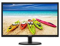飞利浦223V5LSB2  屏幕尺寸:21.5英寸; 面板类型:TN; 最佳分辨率:1920x1080; 可视角度:170/160°; 视频接口:D-Sub(VGA),DVI-D; 底座功能:倾斜:-5-20°;