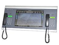 申瓯 SOD8220触摸屏调度台   1、支持多种以太网速率或者串口速率与调度主机进行通信; 2、可设置成串口或网口切换与调度主机通信,方便操作人员查看判断与调度主机的通信状态; 3、同步校准显示调度主机当前日期与时间; 4、多种按键音可供操作选择; 5、支持翻页功能; 6、支持中英文切换显示;