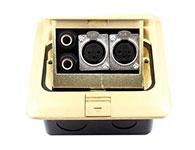 環球-彈起全銅防水地插座-話筒卡儂地插