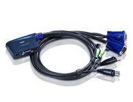 ATEN  CS62US  2端口USB KVM多电脑切换器;提供完整的USB KVM解决方案。CS62US可连结两台USB电脑至一台USB控制端,并兼容于所有操作系统,包括PC, Mac及Sun。