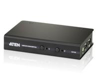 ATEN  CS72D     2端口USB DVI KVM多电脑切换器,可让用户通过单一USB键盘、USB鼠标及数字视频接口(DVI)控制端操作两台电脑。支持数字视频输入,如平板电脑、投影仪、等离子显示器、数字电视。