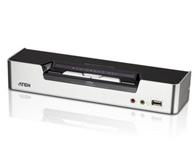 ATEN  CS1642A  2端口USB DVI双屏幕KVMP™多电脑切换器,具备多重显示功能,允许两台设备菊式串接,通过多屏幕以供双显示/三重显示/四重显示,除此之外,CS1642A更搭载nVidia 3D Vision Ready 120Hz 3D显示配备,让您享受更高质量的3D视觉效果。
