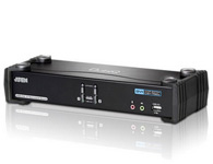 ATEN  CS1782A  2端口USB DVI Dual Link KVMP™多电脑切换器;此款产品整合了2端口KVM多电脑切换器与2端口USB Hub,同时支持DVI接口的显示器与音频功能。