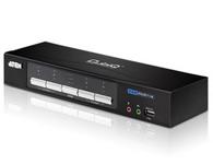 ATEN  CM0264  2x4 DVI-HD音频/视频矩阵式KVMP™多电脑切换器;用户可从由USB键盘、鼠标,以及HD与DVI显示器组成的单一控制端访问4台电脑/设备。通过CM0264的USB Hub,每台电脑能依照顺序访问连接的接口设备。