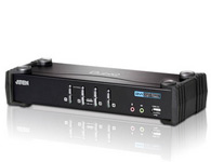 ATEN  CS1764A  4端口USB 2.0 DVI KVMP™多电脑切换器;为KVM(键盘、显示器、鼠标)产品功能创造了革命性的新方向。 CS1764A除了同时结合4端口KVM多电脑切换器与2端口USB 2.0 Hub之外,并提供支持数字显示器(DVI)的接口。
