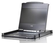 ATEN  CL6700MW DVI Full HD LCD 控制端 是一款具备音频功能的KVM控制设备,整合17.3寸背光之高画质宽屏幕、键盘与鼠标触控板于单一抽拉式机体内,并仅占1U机架空间。