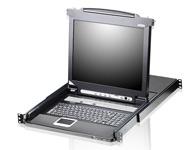 ATEN  CL5716 16端口LCD PS/2-USB KVM多电脑切换器  是一套先进的控制方案,其可通过一组PS/2或USB KVM控制端(键盘、显示器及鼠标)访问多台服务器。一台CL5716可分别直接管理16台服务器;通过菊式串接方式另外再串接31台KVM多电脑切换器,即可从单一控制端管理多达512台服务器