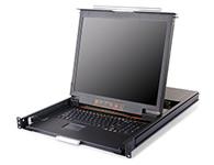 """秦安-KinAn DL1908 双轨四合一KVM控制平台  整合了LED显示屏、超薄键盘、鼠标触摸板,与KVM控制端于单一抽拉式的双滑轨机体内,集成在1U高度单元内,采用抽屉式安装方式,彻底解决空间不足的问题。与标准键盘、显示器、鼠标相比, 可节省85\\%的空间。采用高品质A级19""""LED显示器(无亮点),内置切换器可直接管理8台服务器;通过菊式串接方式另外再串接31台KVM多电脑切换器,最多可管理256台服务器。"""