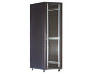 图腾  G2网络服务器机柜    单开钢化玻璃前门;单开钣金后门;前后门免焊加强筋结构,美观牢固;前后门配高级典雅锁;可配客户需要的各种锁;前后门可改为双开。