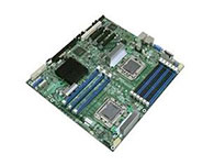 Intel-S5500HCV    主芯片组: Intel 5500 CPU插槽: 支持Intel Xeon 5500处理器 显卡插槽: 2×PCI-E 8X 2×PCI-E 4X SATA接口: 6×SATA接口