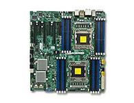 超微X9DA7    主芯片组: Intel 602 CPU插槽: LGA 2011 显卡插槽: 3×PCI-E 3.0 x16 2×PCI-E 3.0 x8 1×PCI-E 3.0 x4(in x8) SATA接口: 6个SATAII接