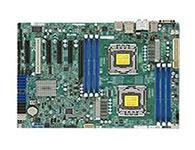 超微X9DAL-I    用平台:Intel平台主芯片组:Intel C602CPU种类:Xeon E5-2400CPU插槽:Socket 1356集成芯片:显卡/网卡/声卡PCI插槽:1×PCI内存描述:6×DDR3 DIMM 最大支持CPU:2电源插口:两个八针,一个24针电网络芯片:板载Intel 82574L双千