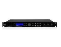 TRS DSP-9000 2*24 LCD 藍色背光顯示,6聲道全數字平衡輸出。 采用專業級255MHz主頻,96KHz采樣頻率/24Bit  A/D及D/A轉換,32Bit浮點運算高速DSP處理器。