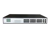 """优力普 PM3028FSNL 28口POE交换机,带屏显    48V 330W """"交换机监控专用,24口 插满,正常工作"""" """"兼容802.3af/at 标准 每个PoE端口输出功率达32W,自动侦测PD设备 PoE过载警示灯,传输距离及供电保证100米 """" """"内置电源,支持1.2.3.6或 4.5.7.8 四根线供电"""""""