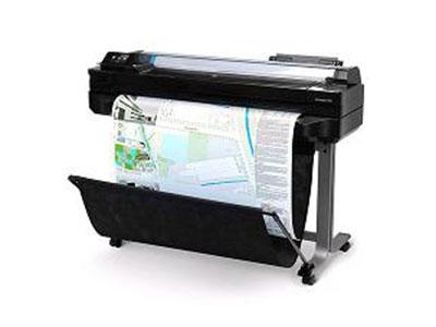 "HP Designjet T520 系列打印机 HP云打印及无线技术体现一身的节能大幅面打印机    ""Web 连接和 Wi-Fi 认证 宽达 24 英寸(610 毫米)或 36 英寸(910 毫米) 内置式纸架、前置卷筒和单个工作表 35 秒/页 A1/D、每小时 70 张 A1/D 打印件 打印分辨率高达 2400 dpi 1 GB 内存 全新 4 色惠普原装墨水和寿命较长的打印头"""