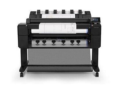"""HPT2500eMFP大幅面多功能一体机    """"幅宽0.914米(A0+) 功能:打印,复印,扫描,蓝图 速度:  线条图打印时间(经济模式,A1 普通纸):21 秒/页 线条图打印速度(经济模式,A1 普通纸):每小时 120 页 A1 打印件"""""""