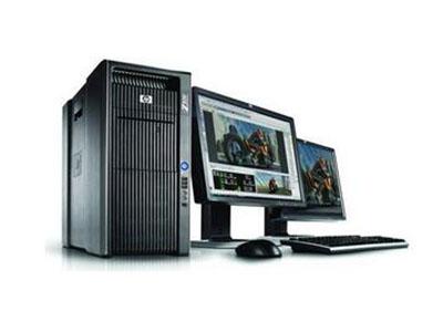 """惠普Z400工作站    """"采用正版 Windows,为您提供熟悉、直观的操作环境 • 更加智能的工作模式:该工作站采用全新的处理器、内存、显卡和存储技术,并对这些技术予以了优化,可以同时运行更多的任务、处理流程和应用程序。 • 全新设计:HP Z400 采用全新的智能机箱、先进的降噪技术以及可选的液体散热技术,因此即使在大负荷运转环境中,也能保持更低的噪音级别,将惠普创新优势由内而外发挥得淋漓尽致。 • 以环保为本的设计理念: 符合能源之星® 标准的系统以及 85\%"""
