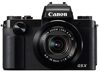 Canon/佳能 G5X 数码相机  液晶屏尺寸 3.0英寸 液晶屏像素 约104万点 液晶屏类型 旋转屏;触摸屏 取景器类型 电子取景器 镜头参数 最大光圈 F1.8(广角)/2.8(长焦) 滤镜直径 无 曝光控制 白平衡模式 自动 ISO感光度 自动,ISO 125-ISO 12800以1/3级增减 场景模式 肖像;风景;微距;日落;夜景肖像;夜景;手持夜景 闪光灯参数 机身闪光灯 支持 外接闪光灯 支持 拍摄性能 自拍 支持 连拍速度 约5.9张/秒(单次自动对焦) 机身防抖 支持 遥控功能 支持 存储参数 存储介质 SD卡;SDHC卡;SDXC卡 机身内存 无