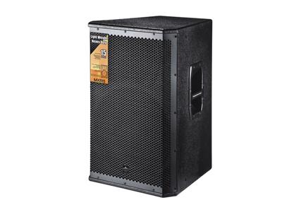 美国尼迪 MX515 适合场所:室内演出,多功能厅、俱乐部、迪厅、慢摇、小型演出活动。 产品参数: 额定功率(W):400W 峰值功率:800W 阻抗(Ω):8 扩散角度:70×70 灵敏度(dB):101dB 最大声压级:129dB 频响(Hz):52-20K 低频:15IN×1(380mm) 高频:1IN×1(44mm) 箱体材料:18mm中纤板 表面:黑色耐磨粗点喷漆 面罩:黑色铁网内贴声学透气海棉 箱体尺寸(W×D×H):450 x480×670mm 包装尺寸(W×D×H):530×490