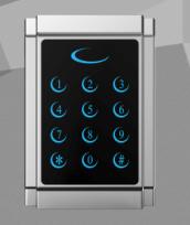 郑州恒尔安可通智能AKT-A80EM金属门机触摸按键 可做金属读头 2000张卡容量,带WG输出