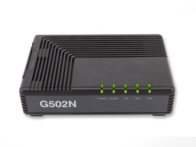 高稳定性2FXS端口语音网关  G502N  是飞音时代的高性能双端口语音网关产品,可供用户注册到不同的SIP代理服务器,IP PBX,最大同时支持两路语音呼叫,提供更灵活的语音沟通。