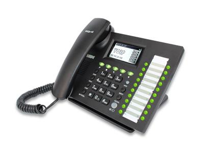 5线路高性能无线商业IP电话机  IP652W  功能强大,线路多达5条,可以支持多达6个扩展埠,同时也支持无线连接。是办公通讯的优越选择。IP652W基本特征包括5条线路和动态软键,支持802.3af PoE,优质扬声器,无线(802.11g)客户端和RJ9耳机端口。每条线路可以配置到独立的电话号码,或复合电话的共享号码。若将IP652W连接上EXP40,可以增加多达240个多功能键。在无特殊限制的情况下IP622W可连接无线网络。