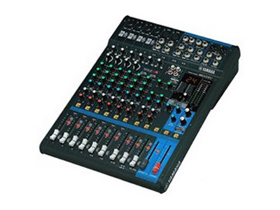 雅马哈 MG12XU 话筒:6 频响:+0.5dB/-0.5dB(20Hz-20kHz) 总谐波失真:0.03\%@+14dBu(20 Hz-20kHz) 输入通道:12通道:单声道:4;立体声:4