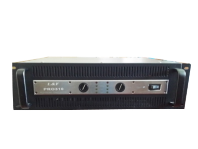 匹克 PEK  PRO 310 600W带直流温控无干扰风扇,具有桥接功能,采用大容量滤波电容,进口东芝管子放大功率强劲 信噪比:大于95db,频率响应:10hz—50KHZ,平衡输入阻抗:20K  OHMS  输入灵敏度:0.775V 重量:12KG
