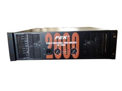 匹克 PEK  CA-2000/CA-4000/CA/3000 800W带直流温控无干扰风扇,具有桥接功能,采用大容量滤波电容,进口东芝管子放大功率强劲 信噪比:大于95db,频率响应:10hz—50KHZ,平衡输入阻抗:20K  OHMS  输入灵敏度:0.775V 重量:24KG