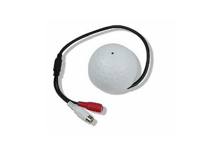 白色拾音器 工作電壓12V DC 頻率響應:100HZ-10KHZ 工作溫度:-20度—+50度