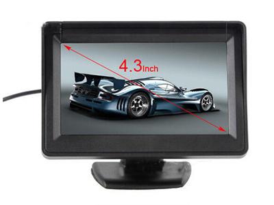 4.3寸車載液晶顯示器 2路AV輸入 白色優先信號輸入 外接電源供電