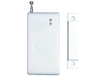 辉诺 无线门磁 (学习码)  外观采用流线型设计,内部电路用声表面谐振器稳频、频率稳定、穿透能力强、功耗小,内装高能量12V电池,触发可靠性高。可与各种家用/商用红外无线防盗报警器、红外无线拨号报警器等配套使用。发射频率:315M。
